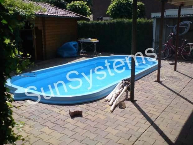 zwembadverwarming buiten zwembad