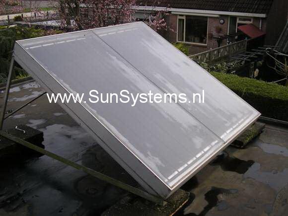 vlakke plaat zonnecollector luigjes