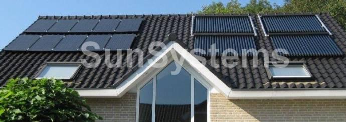 Combinatie zonnepanelen zonnecollectoren